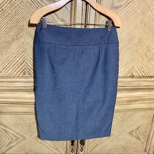 Blue/Gray Lined Pencil Skirt